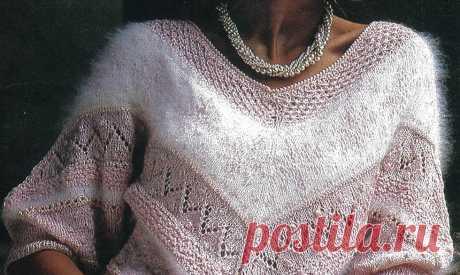 Божественно красивый свитер из разных видов шерсти.