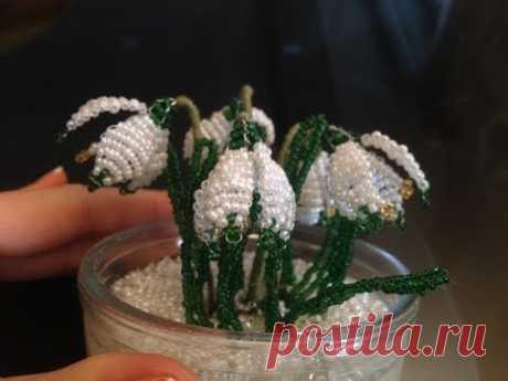 SCHNEEGLÖCKCHEN aus PERLEN. Teil 3/3. Beaded Flowers. Anna's Perlen.