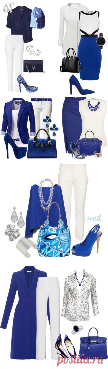 Потрясающие бело-cиние луки — Модно / Nemodno