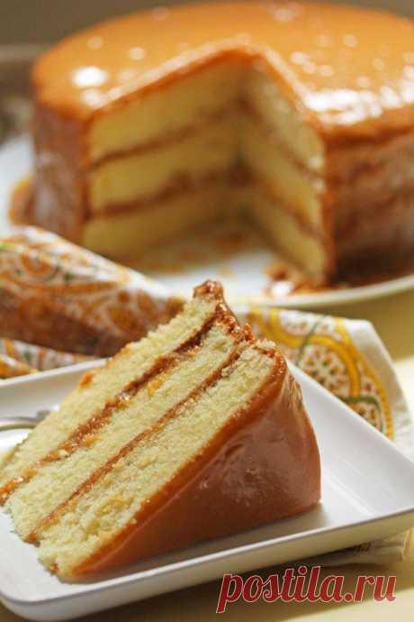 Карамельный торт - пошаговый рецепт - Дом Десертов