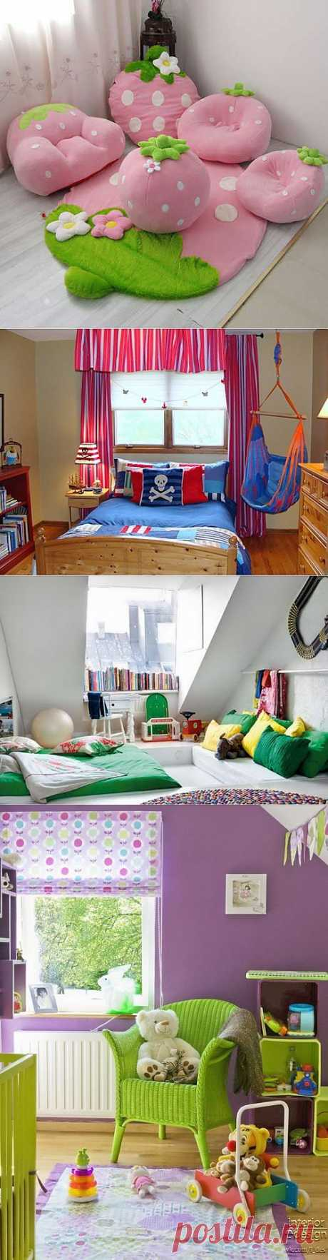 Идеи для детских комнат   Шпильки