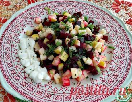 Салат из свеклы и яблока – кулинарный рецепт
