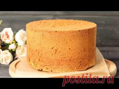 БИСКВИТ ВЫСОТОЙ 10 СМ!🔥 Очень УДАЧНЫЙ КАРАМЕЛЬНЫЙ БИСКВИТ🔥 Caramel sponge cake recipe