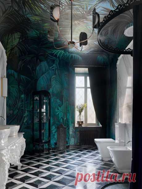 Если вы полагаете, что ванная комната - помещение сугубо утилитарное, в котором на первое место выходят практические, а не эстетические характеристики, после просмотра этой подборки ваше мнение изменится. А если вам нравятся роскошь и шик в интерьере, вы будете в восторге.