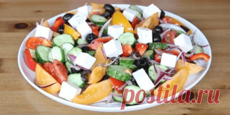 Греческий салат - рецепт с фото пошагово