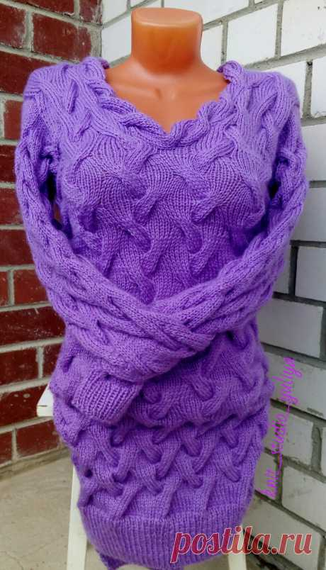 "платье ""Сиреневый туман"" #knit_studio_yuliya #спицами #платьесвитер #одеждаручнойработы #fashiondesighn #одежда #moda #style #вяжутнетолькобабушки #люблювязать #хобби #knit #knitting #сиреневыйтуман #вязаниеназаказ #трикотаж #хендмейд #handmade"