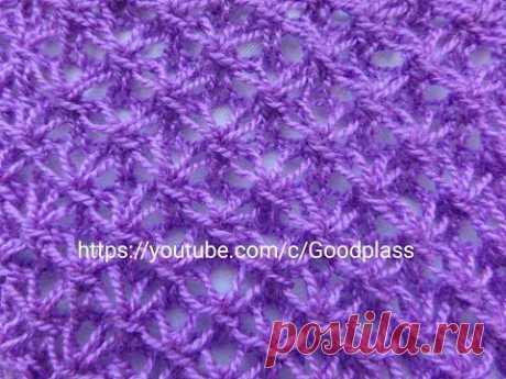 Asterisk pattern. Knitting by spokes.
