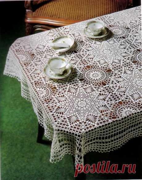 Квадратная скатерть крючком: (вязание, схемы) - пошаговая инструкция вязания квадратной скатерти крючком