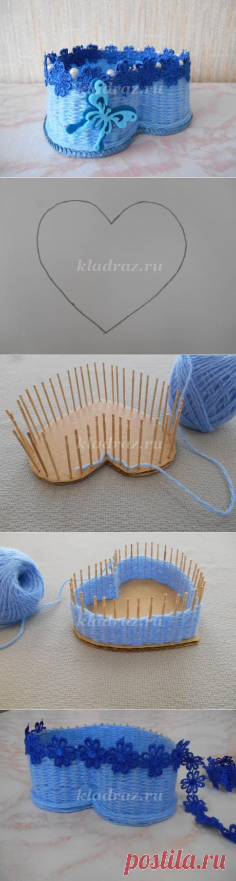 Плетем шкатулку своими руками — Сделай сам, идеи для творчества - DIY Ideas