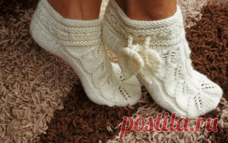 Ажурные тапочки-носочки