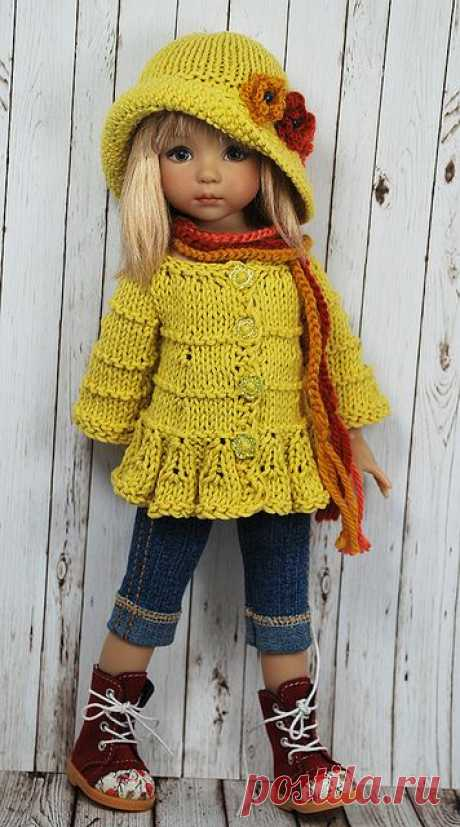 liking the style of this top and hat #dressadoll #dolls #clothes | Crochet