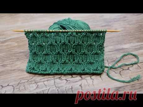 Узор «Бутоны пиона» спицами 🌹 « Peony buds » knitting pattern