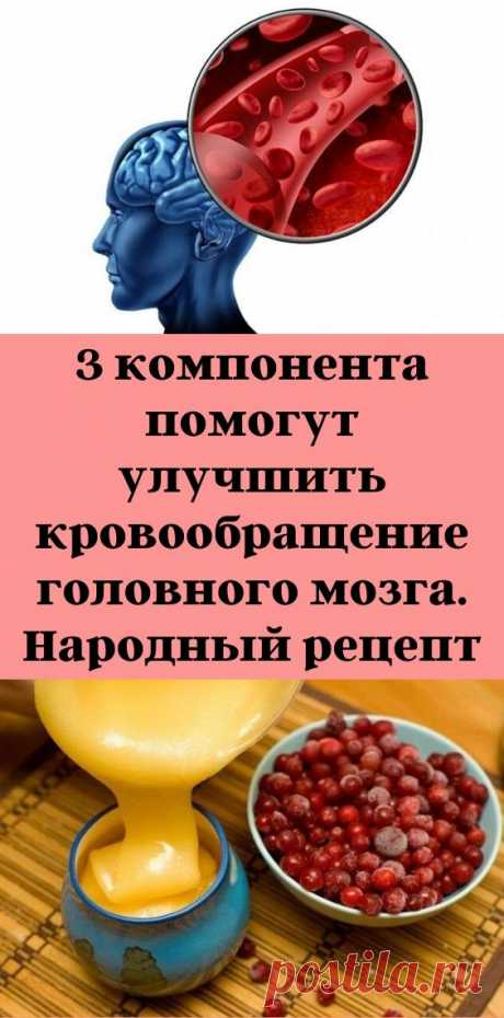 3 компонента помогут улучшить кровообращение головного мозга. Народный рецепт