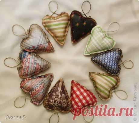 Декупаж - Винтажные сердечки - 2