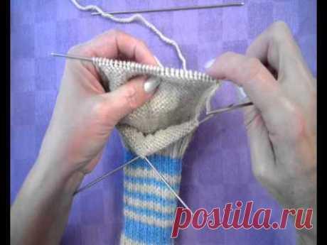 Вяжем носки, часть 2: пятка
