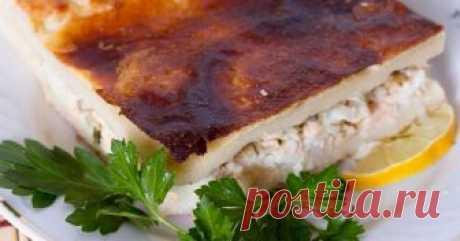 Заливной рыбный пирог «Выручайка» | Вкусные рецепты