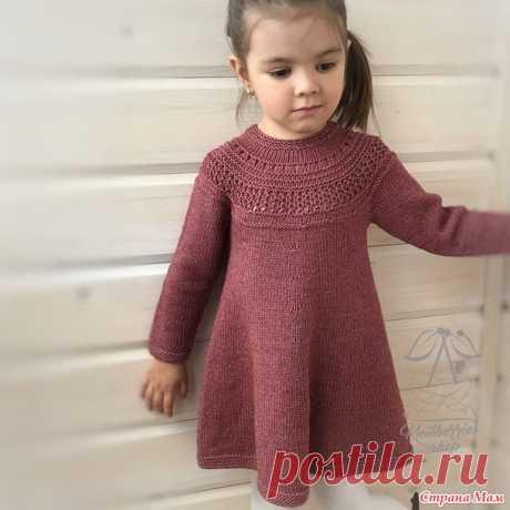 . Детское платье спицами - Вязание - Страна Мам