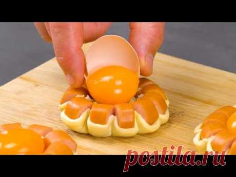 Сосиска, яйцо и немного теста: это простейшее угощение восхитит всех.