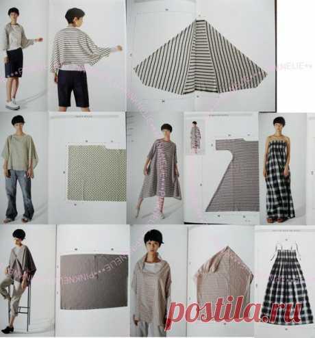 Простые и необычные выкройки модной одежды | Идеи и фотоинструкции бесплатно на Постиле