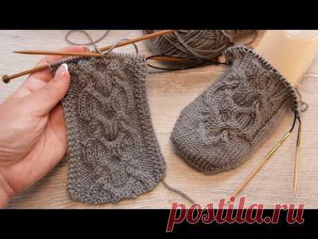 Аран из Интересных переплетений спицами 🦍 Nice Aran knitting pattern