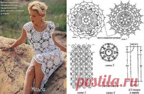 Ажурное совершенство (еще одна подборка летних платьев со схемами)   Mariram   Яндекс Дзен
