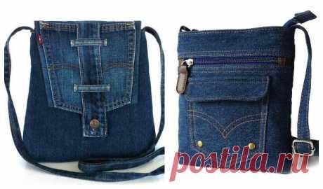Сумки из джинсов. Выкройка + видео