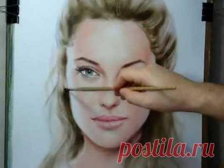 ▶ Рисование портрета в смешанной технике(видео)