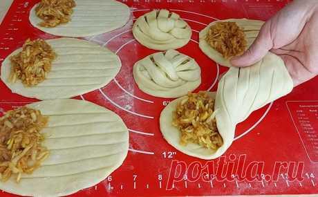 Яблочные плетенки получаются как из пекарни и делаются почти без затрат. Всего 2 яблока для начинки