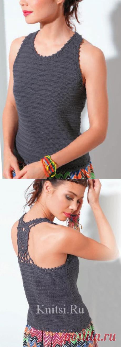 Топ с открытой спинкой. Вязание для женщин / Топы / Крючком