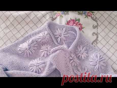 Embroidery on knitted products