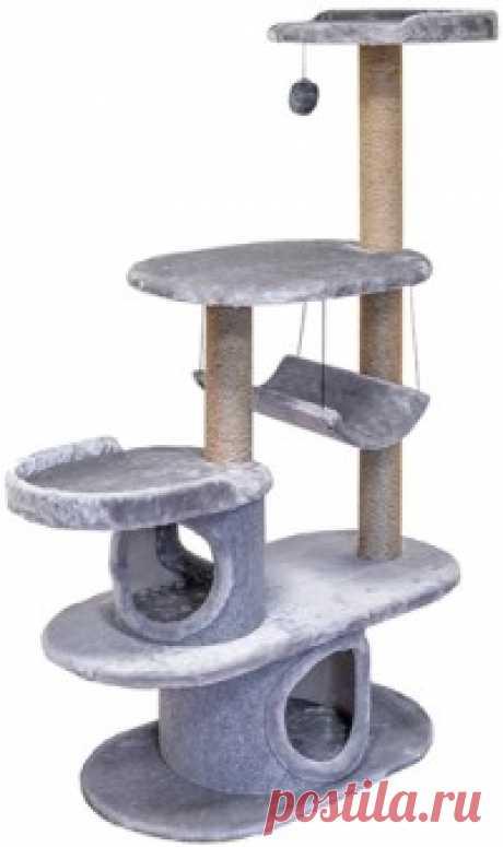 """Комплекс-когтеточка для кошек породы Мейн-кун """"Серый кардинал"""", 120x48x168 см    Купить   с доставкой   My-shop.ru Данный игровой комплекс разработан специально для мейн-кунов, но подойдет и для любых котов. Комплекс изготовлен из ДСП и ДВП, которые обработаны игрушечным мехом. Материал, используемый в когтедралке - джутовая веревка. Размер: 120x48x168 см."""