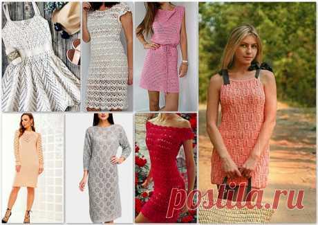Большая коллекция вязаных платьев: 46 моделей с описанием и схемами | Paradosik_Handmade | Яндекс Дзен