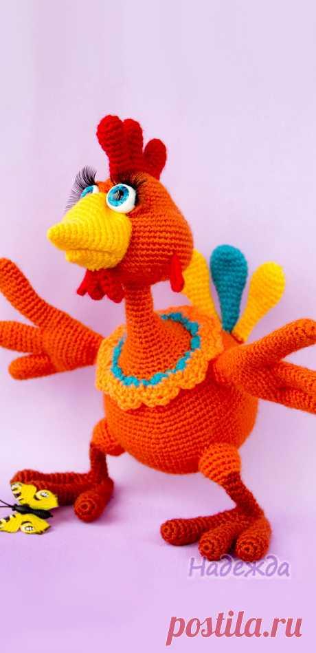 PDF Маня Петухова крючком. FREE crochet pattern; Аmigurumi doll patterns. Амигуруми схемы и описания на русском. Вязаные игрушки и поделки своими руками #amimore - Курочка, курица, птица.