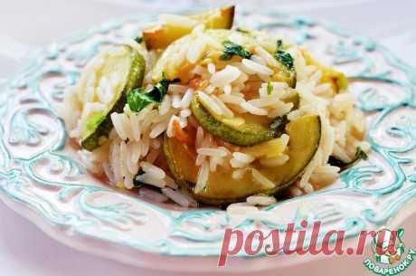 Рис с кабачками, копченым сыром и мятой Кулинарный рецепт