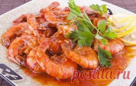 Как приготовить креветки в кисло-сладком соусе - рецепт, ингредиенты и фотографии