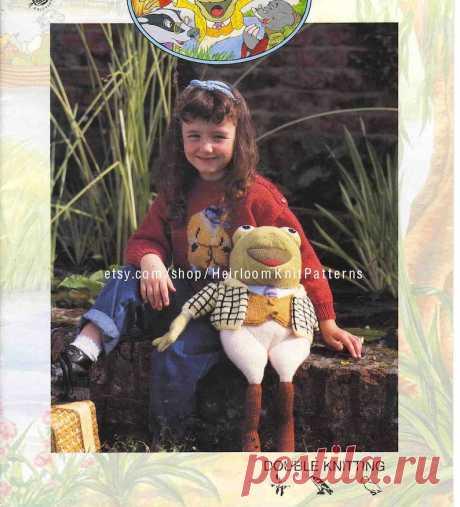 8 Designs Toys & Children's Boy Girl Sweaters Knitting | Etsy
