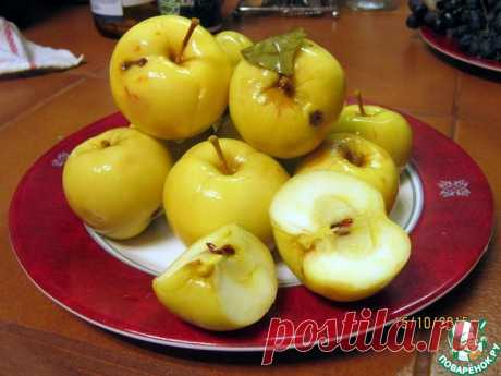 Яблоки мочёные Кулинарный рецепт