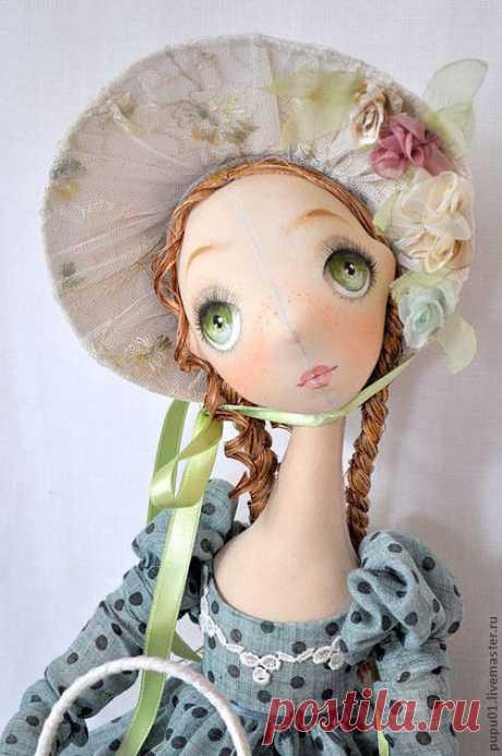Купить Лиза - морская волна, подарок на день рождения, барышня, авторская кукла, коллекционная кукла
