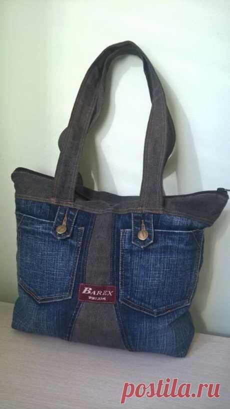 50 стильных сумок из джинсов |