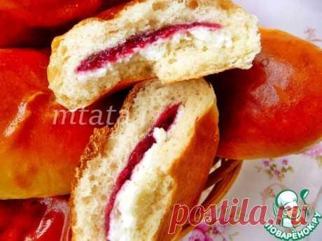 Пирожки сдобные с конфитюр-творожной начинкой – кулинарный рецепт