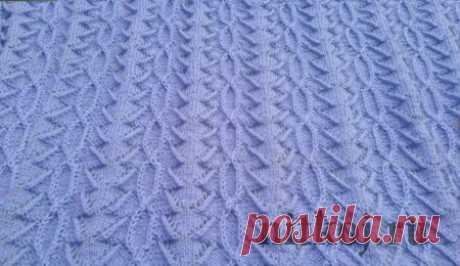 Узор спицами для пуловера » Ниткой - вязаные вещи для вашего дома, вязание крючком, вязание спицами, схемы вязания