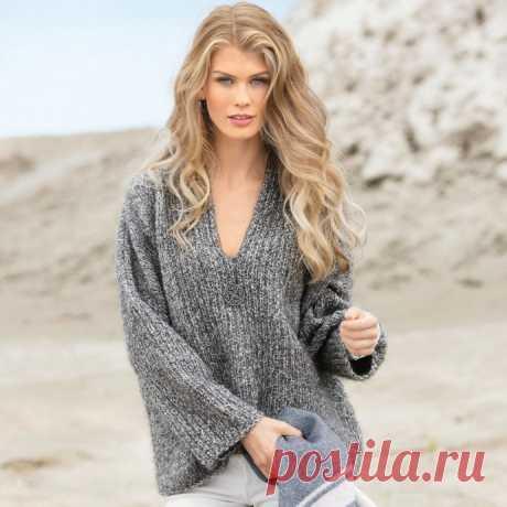 Стильный объемный пуловер