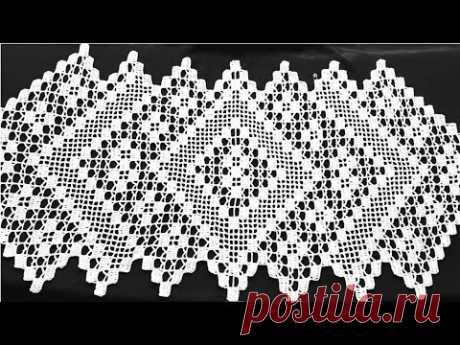 مفرش طاولة فيلي مع إمكانية تكبيره وتصغيره بالطول الذي تريدينه.الجزء1. Crochet tablecloths - YouTube