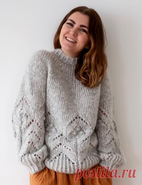 Вязаный пуловер MagnoliaChunky | ДОМОСЕДКА
