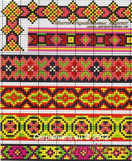 МОЯ ВЫШИВАНКА: Узоры гуцулов. Гуцульские орнаменты. Гуцульская вышивка от Галины Михайлюк