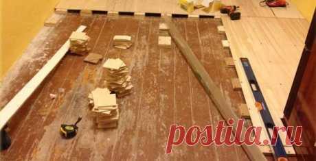 El modo más popular de la alineación del suelo de madera, sin arrancar la tabla. | el estuche | Yandeks Dzen