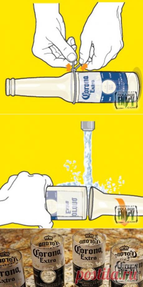 Всего за две минуты это чудо можно сделать из любой стеклянной бутылки!
