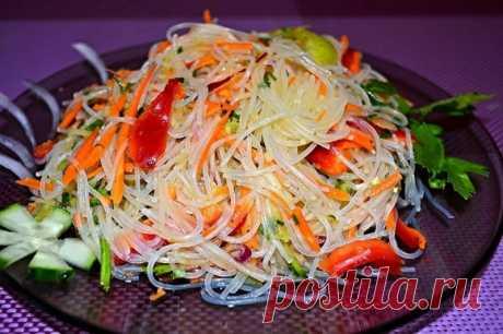 Салат Фунчоза с овощами — Sloosh – кулинарные рецепты