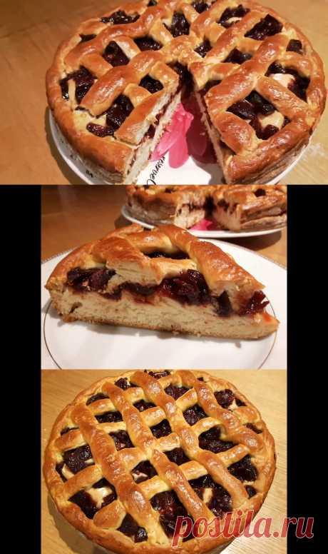 Сдобный дрожжевой пирог. Видео рецепт