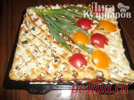 Закусочный торт Очарование — рецепт пошаговый от Лиги Кулинаров